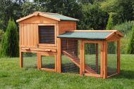 Cage en bois maison avec jardin MH-03