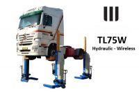 SET 4 colonnes mobiles, camions poids lourds - 30T – SANS FIL, alimentation BATTERIES 24V