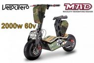 Scooter électrique 6'' Velocifero 2000W 60V MAD lithium. OFFROAD