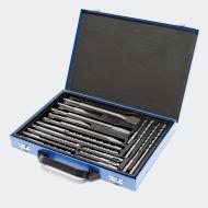 Coffret Jeu de 17 forets et burins SDS avec coffret perforateur burineur